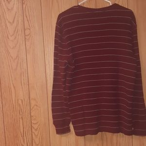 Banana republic red striped top
